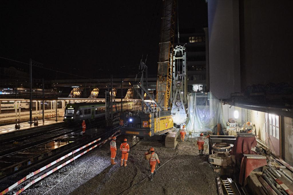 Installationsplatz Laupenstrasse: Von hier aus erfolgt der Bau des eigentlichen RBS-Tiefbahnhofs.