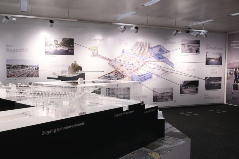 Modell Bahnhof Bern im Infopavillon