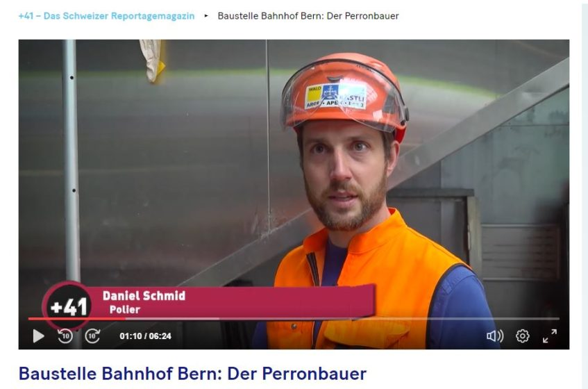Reportage +41 im Bahnhof Bern